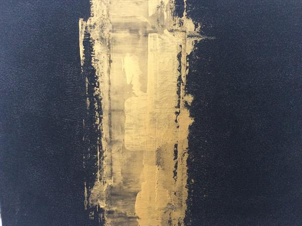 Abstract gold rush by Denise Windle