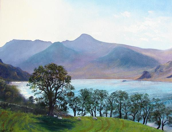 Crummock Water, plein air sketch 29/9/11 by Peter Brook