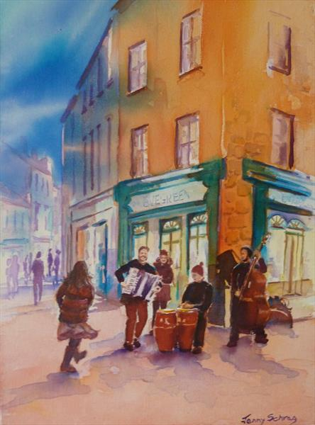 Buskers in Galway by Jenny Schrag