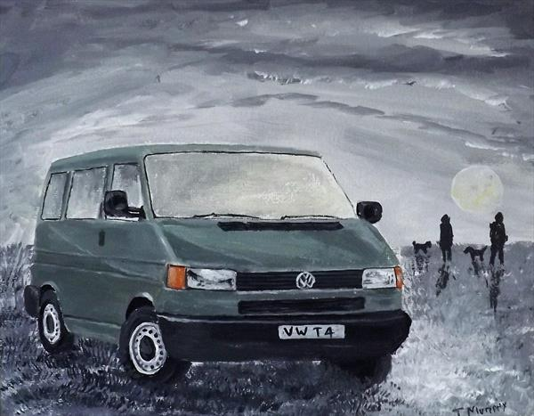 VW T4 IN MOONLIGHT by JOHN MURPHY