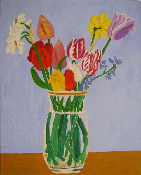 A Mixture of Tulips by Pauline Stanford