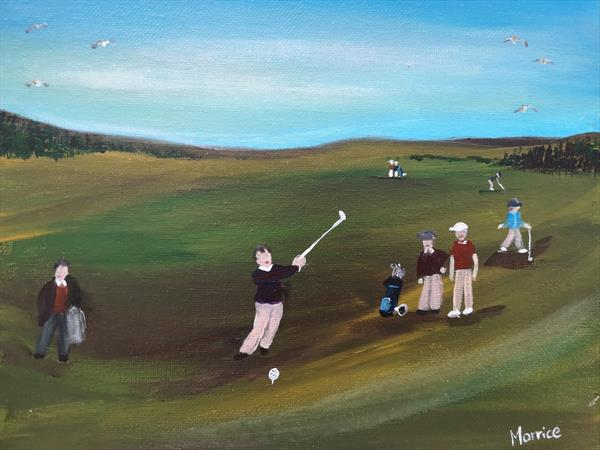 Andrew never missed a shot.... On the course, and off!  by cheryl Morrice