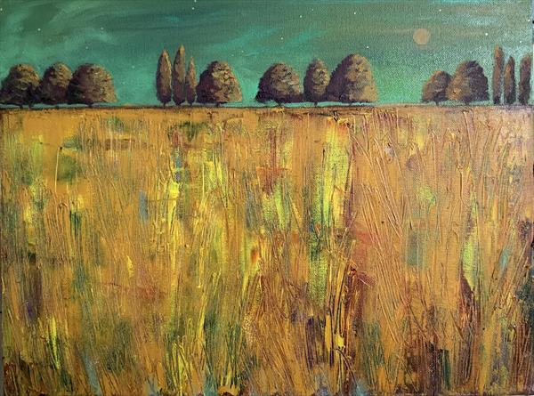 Autumn - the Glory of it all  ( original oil on box canvas)