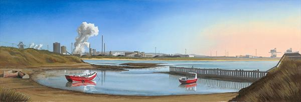 Last Rays at Power hole by Carole Hutchings