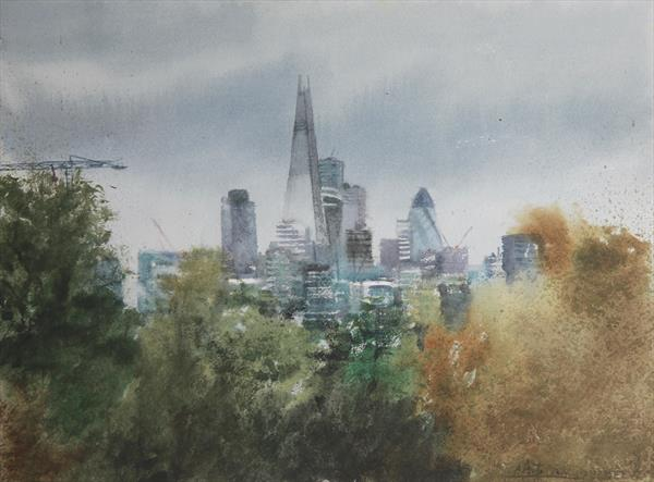 View of London from Brockwell Park by Roberto Ponte