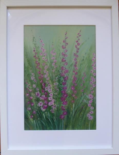 Hollyhocks by Elaine Allender