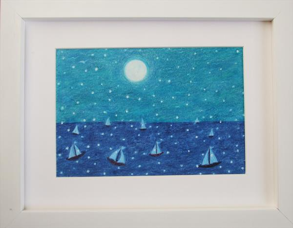 Wintry Sea (Framed) by Claudine Peronne