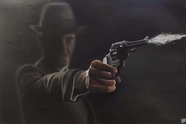 Gunfire (On Display At the Art Gallery, Tetbury) by Lesley White