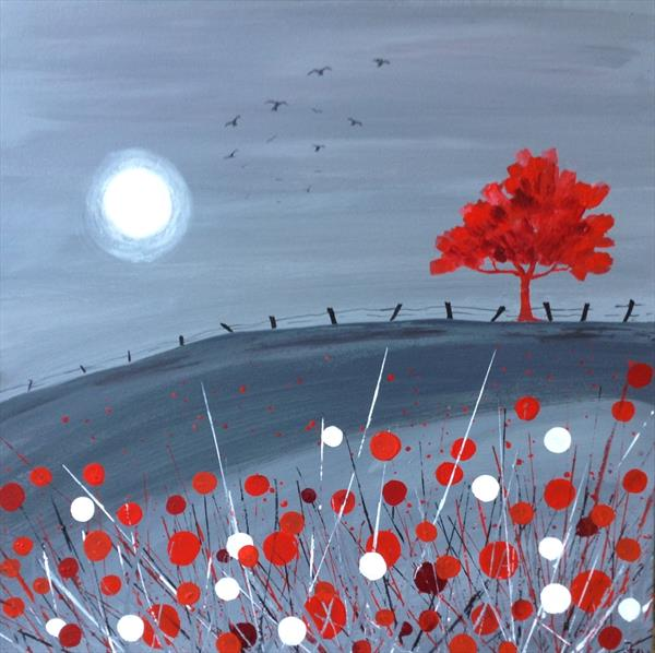 The Red Tree and the Moon by Gill Masters