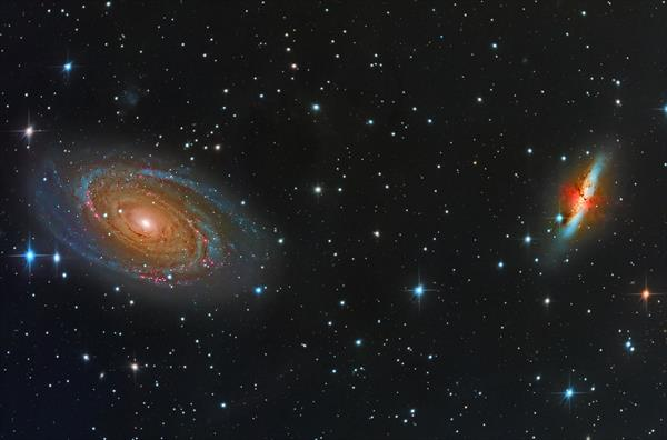 M81 - Bodes Galaxy and M82 - Cigar Galaxy by Simon Todd