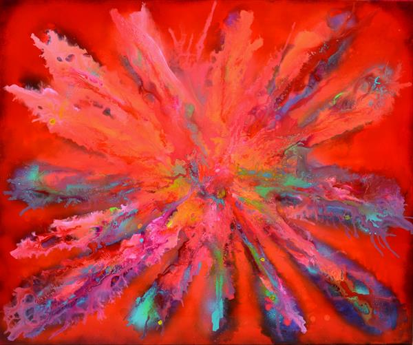 The Beauty of Pandora XL Big Painting - Large Abstract Painting