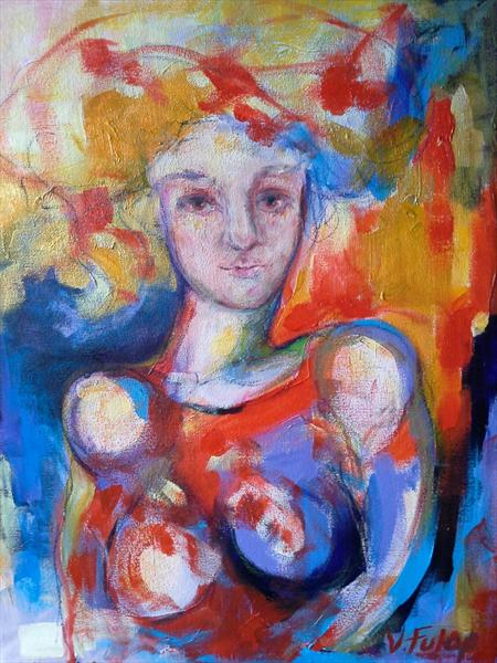 Lady In Red by Valeria Fulop
