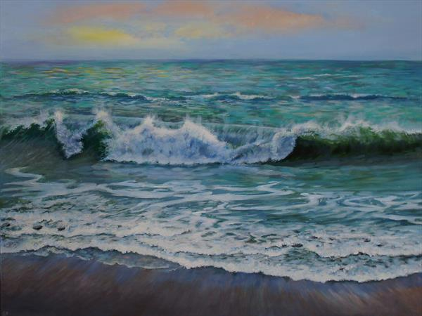 Evening Waves by Sandra Francis