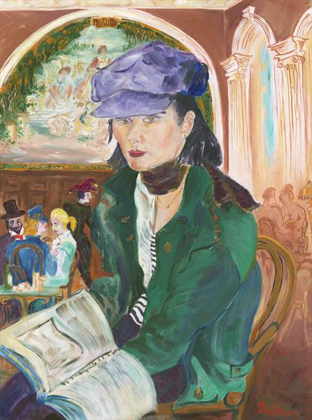 Emma Liza Reading in the Old Royal Academy Cafe by Patricia Thompson