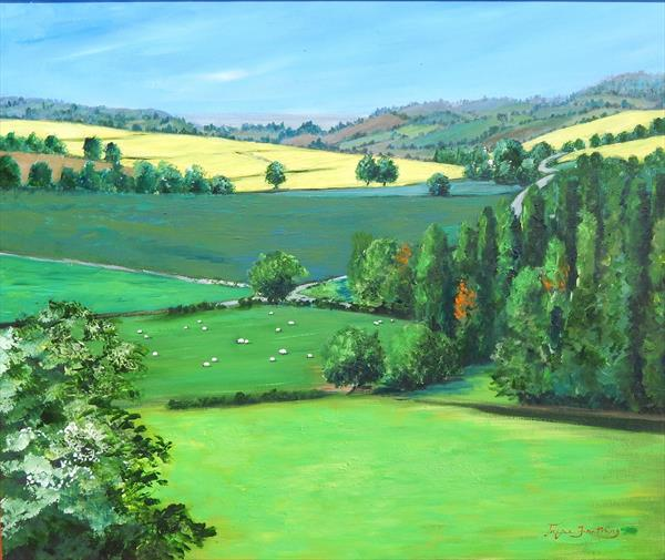A Summer Herefordshire Landscape  by Jayne  Farthing