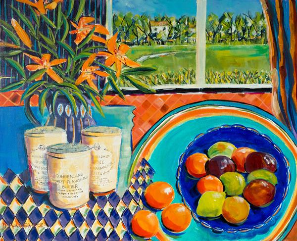 ORANGES STILL LIFE by Diana Aungier - Rose
