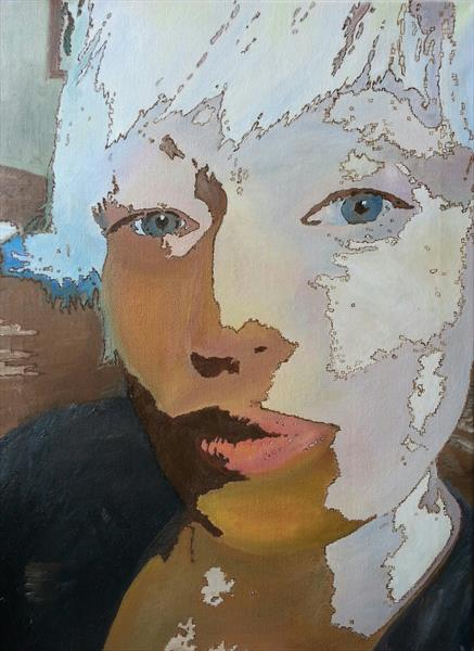Abstract self portrait by Alla Hollis