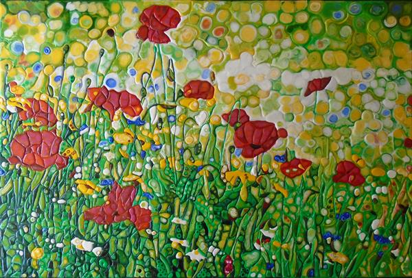 Abstract Poppies (Sculptural) by Paula Horsley