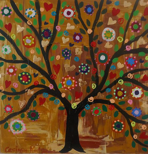 Autumn Tree full of Lovely Delights by Casimira Mostyn