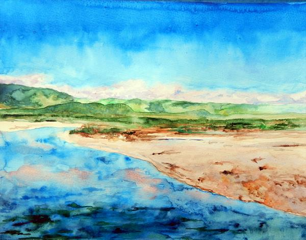 Clear Water (watercolour version) by Richard Freer