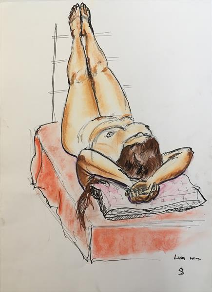 Lisa drawn from life by Simon Farnell