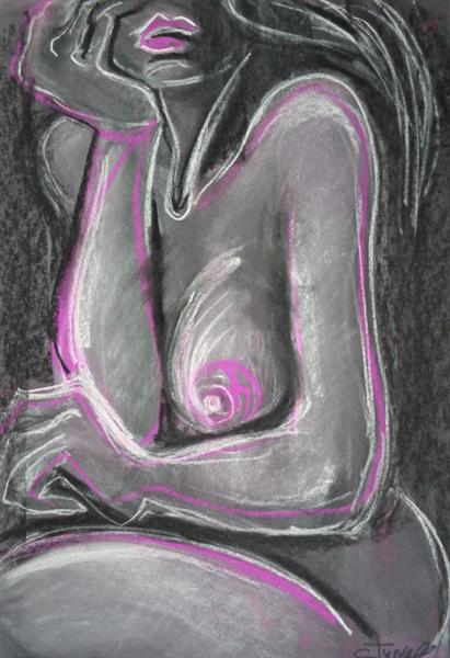 Cool Pink - Female Nude by Carmen Tyrrell