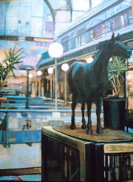 Red Rum Statuette Southport by Les Humphreys