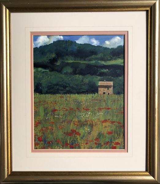 French Poppies ( framed original oil )