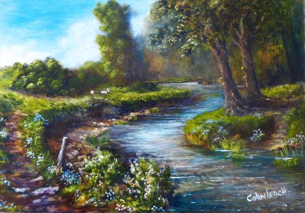 The Old Chalk Stream by Colin Leach