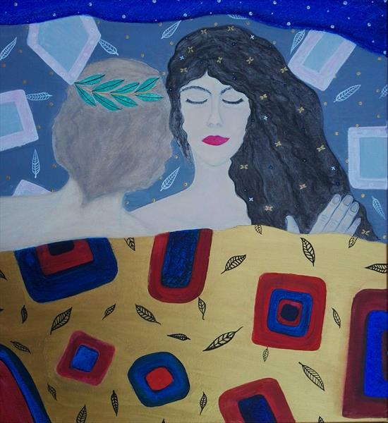 Eternity (Klimt inspired) LARGE by Sara Naglic Curis