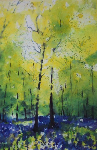 Impression of Bluebells Watercolour
