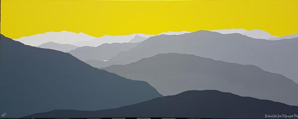 Distant fells from Dollywaggon Pike, The Lake District by Sam Martin