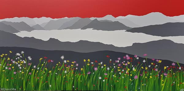 Wild flowers on Latrigg, The Lake District by Sam Martin