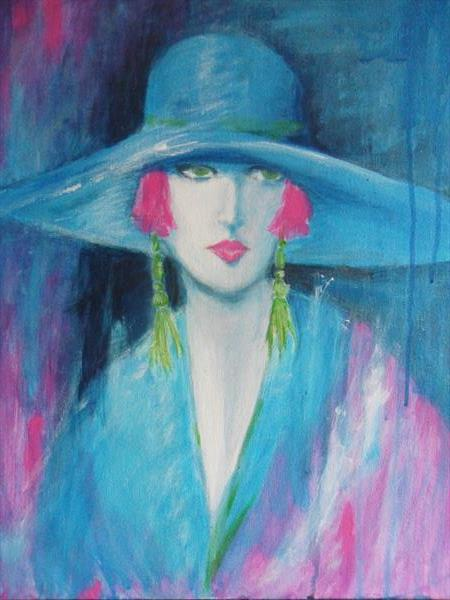 Lady in Blue by Carron  Howe
