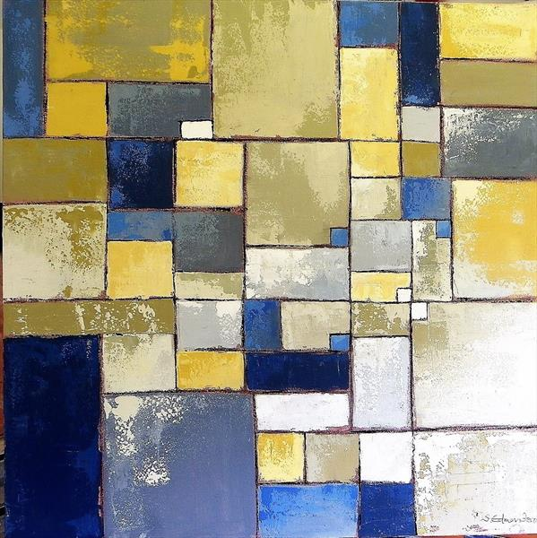 Blue in Conversation with Yellow by Sherry Edmondson