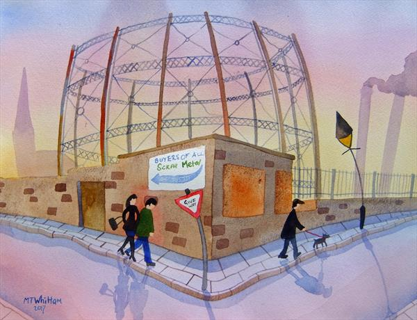 The Gas Works Wall by Martin Whittam
