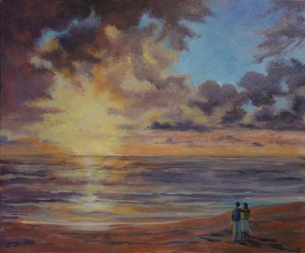 Ocean Sunset by Andrea Thomas