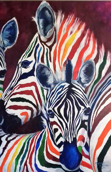ZEBRAS by Suzanne  Haimes