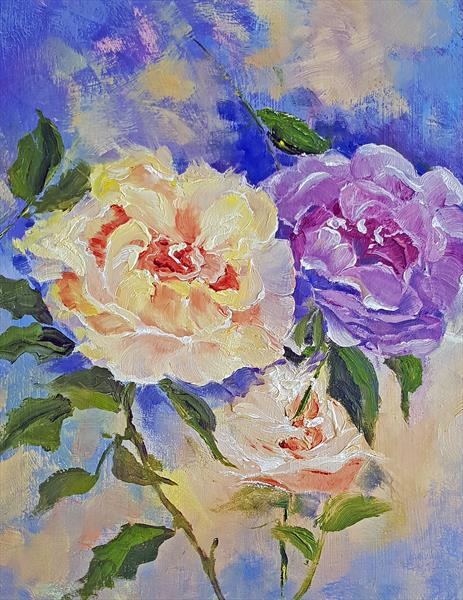 Gentle Roses by Ela Wallis