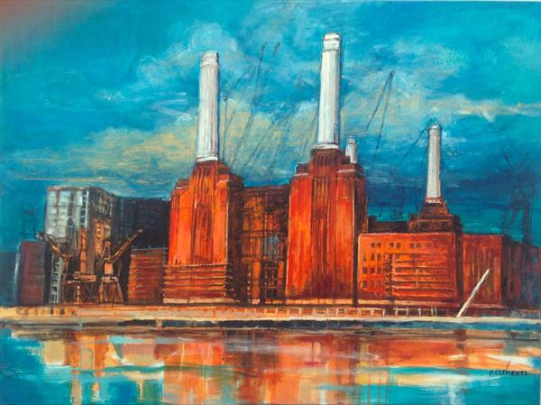 Battersea Power Station new Directions (large painting) by Patricia Clements