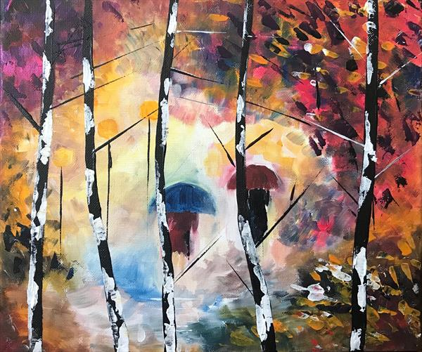 Rainy Day Abstract by  Rizna  Munsif