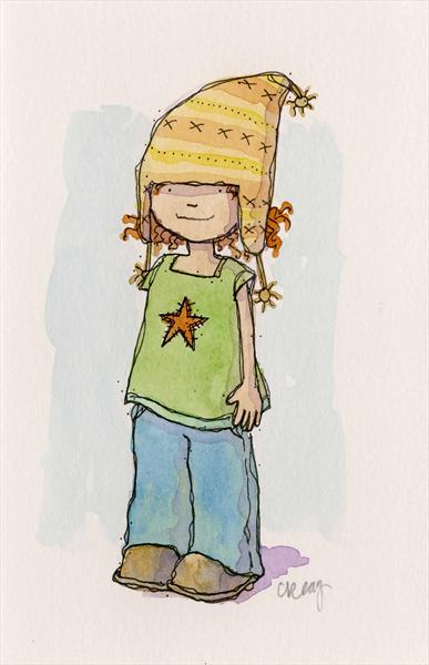 Girl in a Cute Hat by Claire Keay