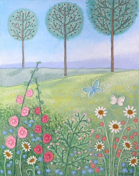 Cherry Trees and Butterflies by Josephine Grundy