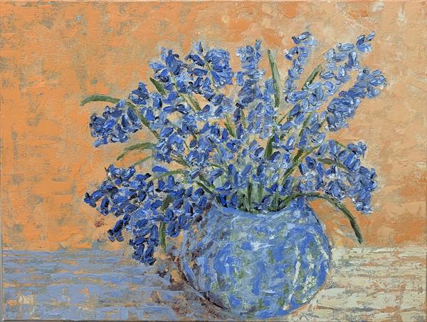 Bluebells in a vase by Anastasia Jankovic