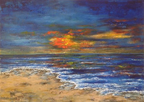 Sunset over the Sea by Tina Hiles
