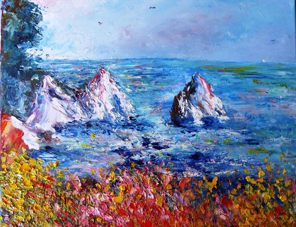 Rocky coastline by Mary Ann Day