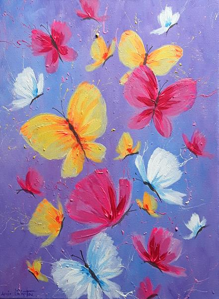 Dancing Butterflies by Angie Livingstone