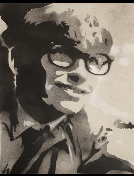 THE YOUNGER STEPHEN HAWKING (DRAFT1 ON PAPER) by Juan Sly