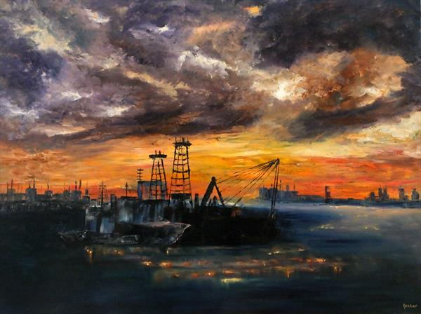 Echo Of Life (Portsmouth Harbour) by Hester Coetzee