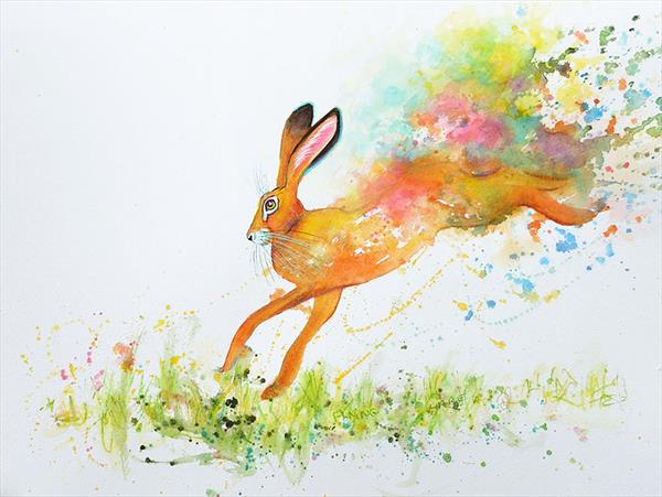 Flying Hare by Denise Laurent